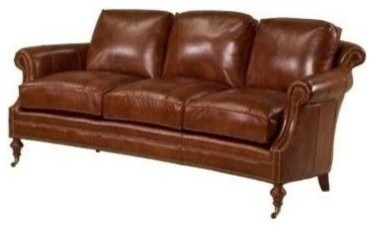 New Leather Sofa Wood Top Grain Leather traditional-sofas