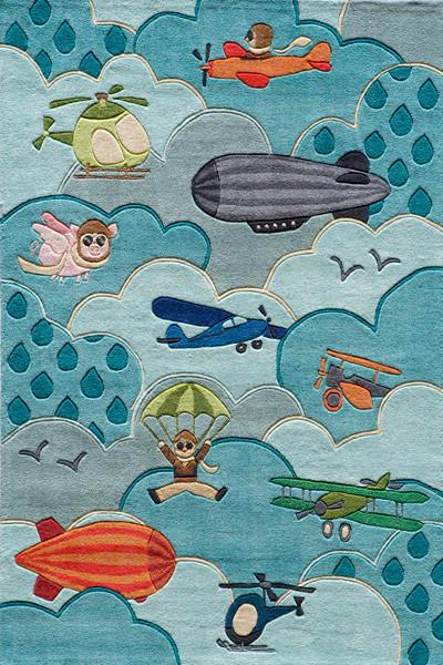 Momeni Rug Lil Mo Whimsy 2' x 3' LMJ10 Sky LMOJULMJ10SKY2030 contemporary-area-rugs