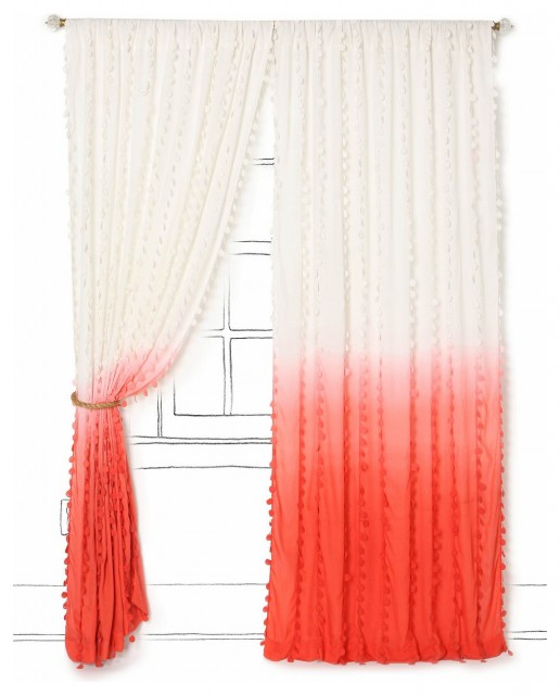Wavering Ombre Curtain - Contemporary - Curtains - by Anthropologie