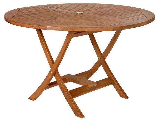 TEAK Round Table - Traditional - Outdoor Dining Tables - by All Things Cedar Inc.