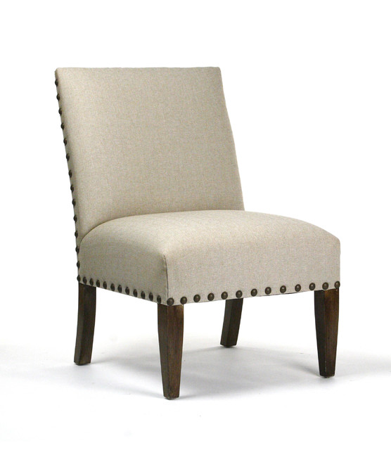 linen chair with nailhead trim traditional living room chairs. Black Bedroom Furniture Sets. Home Design Ideas