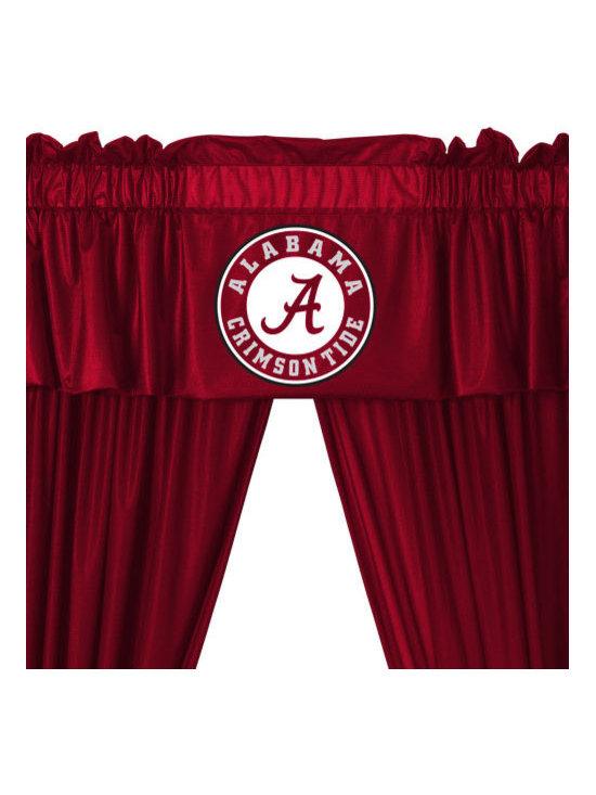 Store51 LLC - Alabama Crimson Tide 5-Piece Long Curtain-Drapes Valance Set - Features: