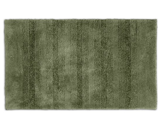 "Sands Rug - Westport Stripe Beach Grass Washable Bath Rug (2' x 3'4"") - Classic and comfortable, the Westport Stripe bath collection adds instant luxury to your bathroom, shower room or spa. Machine-washable, always plush nylon holds up to wear, while the non-skid latex makes sure rugs stay in place."