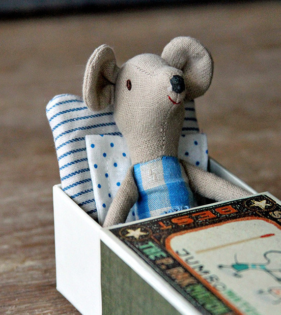 Mouse Big Brother in a Matchbox modern baby toys