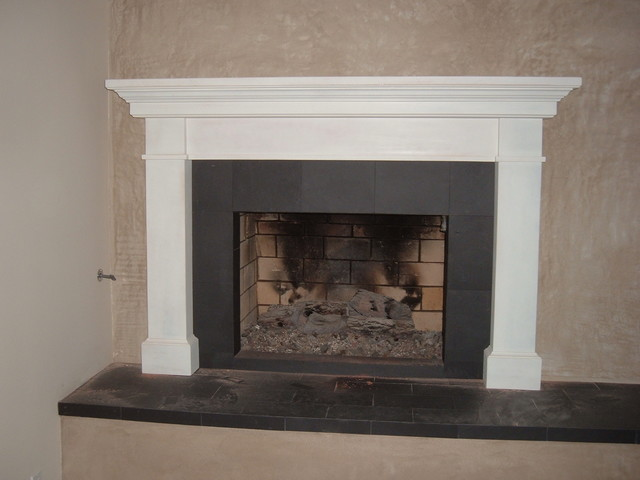 Fireplace mantels contemporary indoor fireplaces los for Building an indoor fireplace
