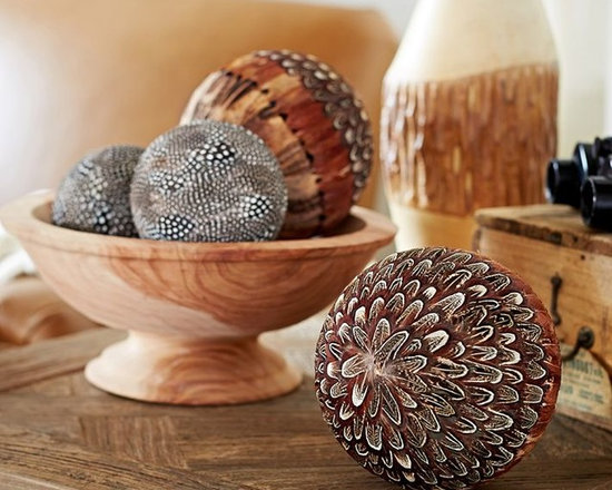 Feathered Spheres Vase Filler -