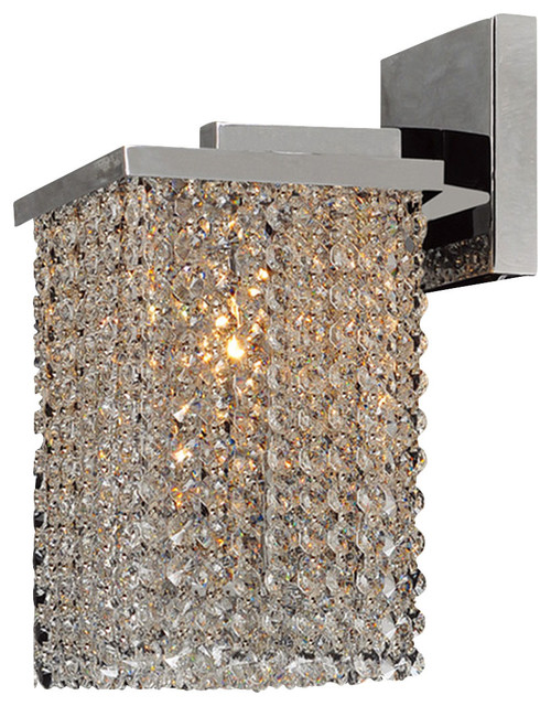 Prism Wall Sconce 6 In. - 1 Light in Chrome Crystal & Clear Finish modern-wall-sconces