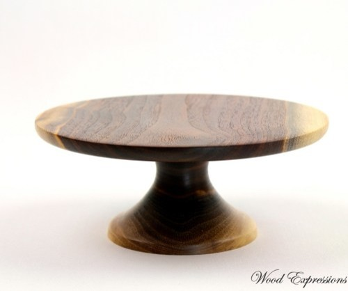 Wooden Cake Stand contemporary-dessert-and-cake-stands