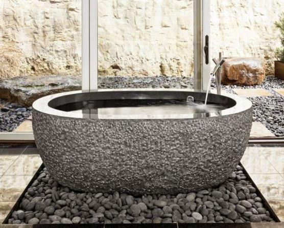 Oval Bathtub eclectic-bathtubs
