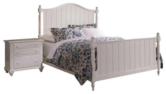 Broyhill Hayden Place Panel Bed 2 Piece Bedroom Set In White Transitional Beds By Cymax