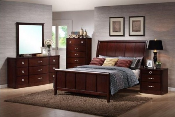 Baxton Studio Argonne 5 Piece Wooden Modern Bedroom Set Contemporary Bedroom Furniture Sets