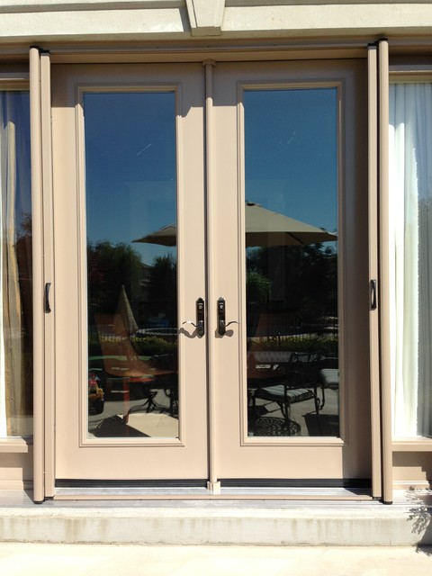 French door retractable screen contemporary screen Cost of retractable screen doors
