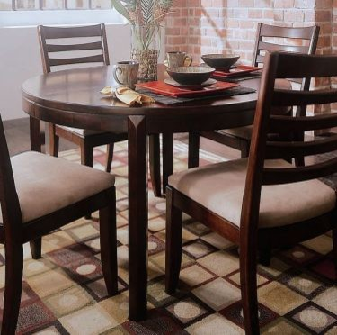 American Drew 912 701 SET Tribecca Round Leg Dining Table Set Tribecca Tr