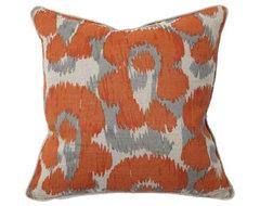 Orange Leopard Print Throw Pillow eclectic-decorative-pillows