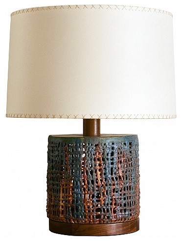 Wide Basket Weave by Clate Grunden eclectic-table-lamps