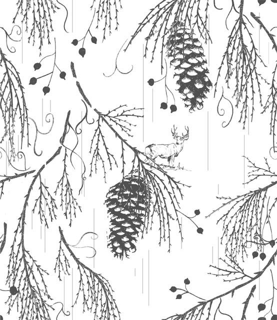 Sequoia Wellington-Grey eclectic-wallpaper