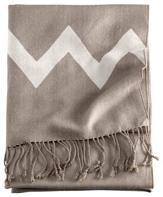 Chevron Throw contemporary throws