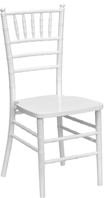 Flash Furniture Flash Elegance Supreme White Wood Chiavari Chair traditional-home-office-products
