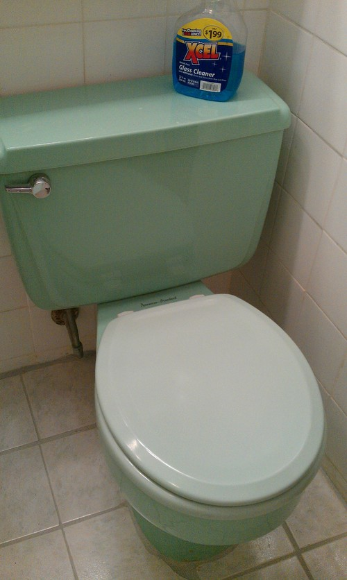 Shall I trash this 60's green retro bathroom?