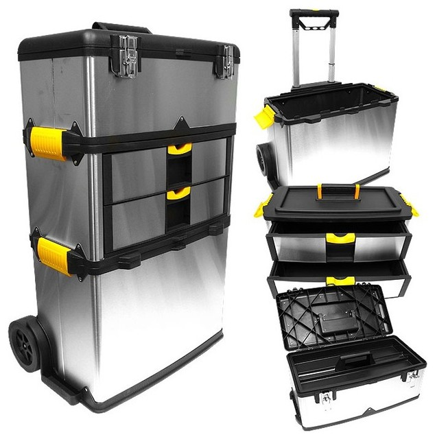 Durable Stainless Steel Tool Box W Removable