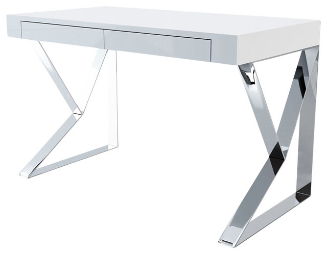 houston desk white lacquer modern desks and hutches by inmod
