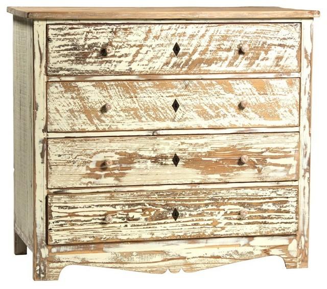 Dovetail Blanche 4 Drawer Dresser contemporary-dressers