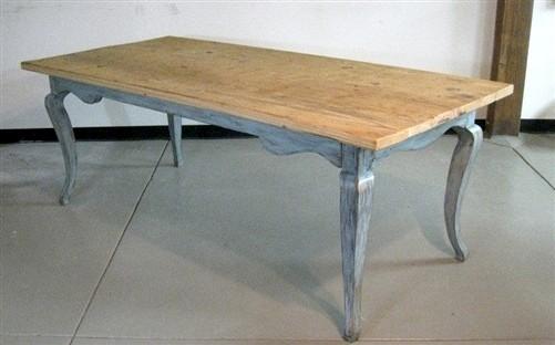 Rustic-Modern Barn Wood Dining Table farmhouse-dining-tables