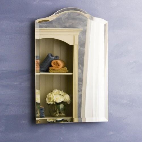 Scallop top small recessed medicine cabinet contemporary medicine cabinets by hayneedle - Modern medicine cabinets recessed ...