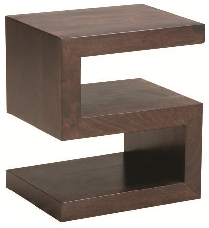 S Side Table Chocolate Contemporary Tables And