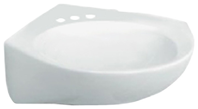 Cornice Wall-Mount Bathroom Sink in White contemporary-bathroom-sinks