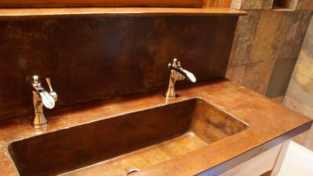 Brilliant Bathroom Furniture Rustic Vanities Barnwood Vanity Hammered Copper