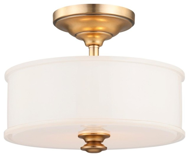 Semi flush traditional ceiling lights : Traditional urban drum semi flush ceiling light