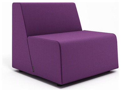 Campfire half lounge purple modern outdoor chaise for Chaise and a half lounge