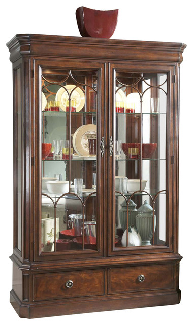 Antebellum Display Cabinet - Traditional - Storage ...