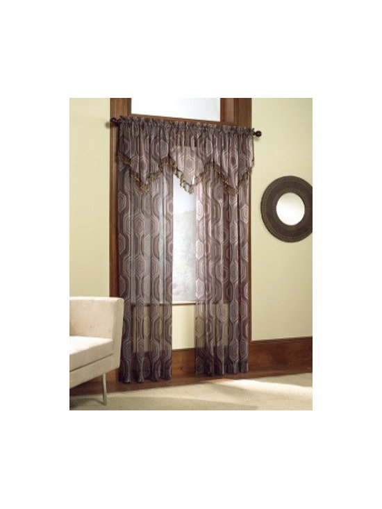 Casablanca - A sheer panel with colors of chocolate in a swirl print