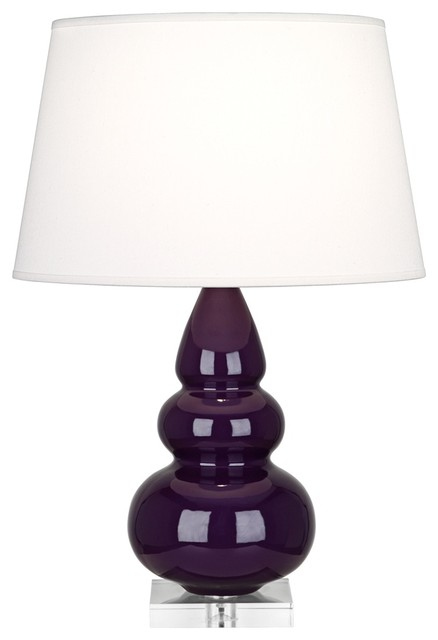 Robert Abbey Amethyst Triple Gourd Ceramic Table Lamp contemporary table lamps