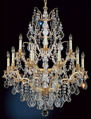 Schonbek Historical Bordeaux Legacy French Gold Chandelier traditional chandeliers