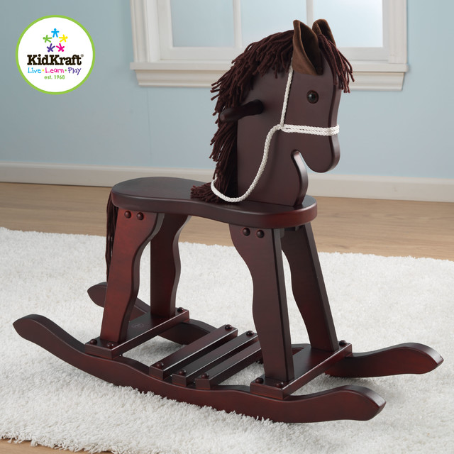 Kids Toy Horse Kidkraft Derby Rocking Horse in Cherry Color traditional-kids-toys-and-games