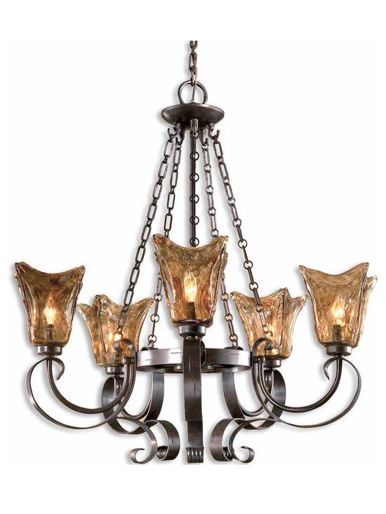 Uttermost - Vetraio 5-Light Chandelier by Uttermost with Oil Rubbed Bronze Finish - 21007 - Vetraio 5-Light Chandelier by Uttermost with Oil Rubbed Bronze Finish.