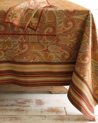 Kashmir paisley tablecloth 70 x 120 traditional for Table cuisine 70 x 120