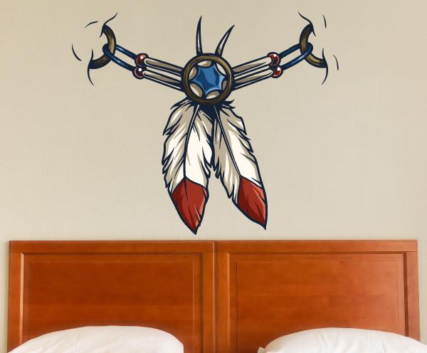 Native American Vinyl Wall Decal Nativeamericanuscolor005
