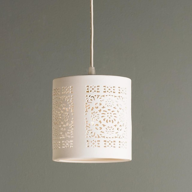 Lace pendant lamp crafthubs ceramic lace pendant pendant lighting by shades of light aloadofball Images