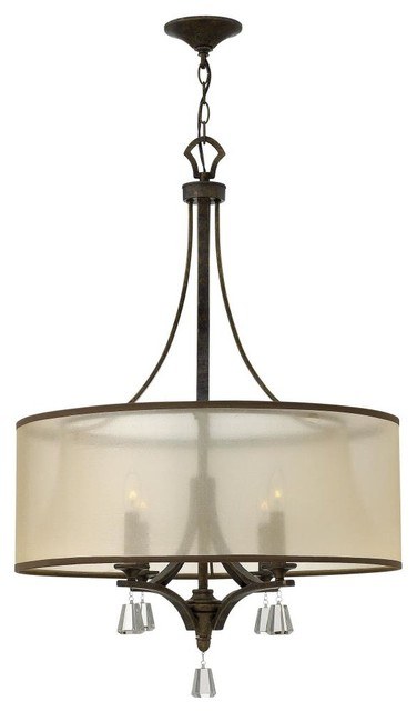 Fredrick Ramond-FR45604FBZ-Mime - Four Light Chandelier transitional-chandeliers