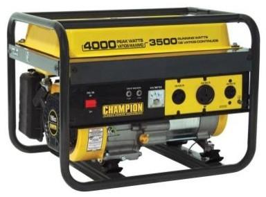Portable Generator: Champion Power Equipment. 3,500/4,000-Watt Recoil Start Gaso contemporary-cable-management