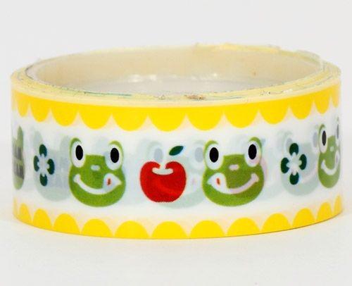 Cram Cream green frogs deco tape kawaii home-decor