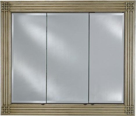 Afina Vanderbilt Large Triple Door Recessed Decor Medicine Cabinet - 51W x 40H i - Contemporary ...
