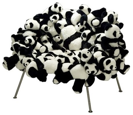 Banquete Chair with Pandas LIMITED EDITION by Fernando and Humberto Campana eclectic-living-room-chairs