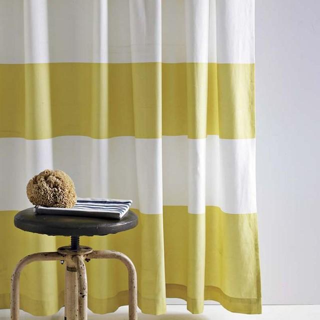 Stripe Shower Curtain, Citron contemporary-shower-curtains