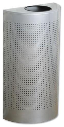 Rubbermaid Commercial 12 Gallon Designer Line Silhouettes Half-Round Trash Can - Contemporary ...