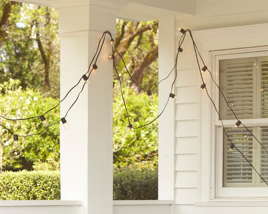 Rejuvenation: Exterior Lighting & Accessories - Not your average string lights. This 50 foot strand can light up porches, fences, and decks.